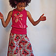 Belle Blossoms Ruffle Pant & Applique Tank Set
