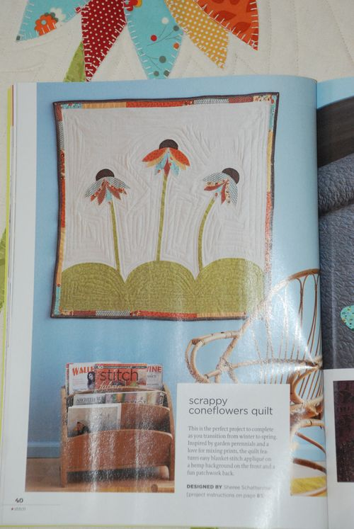 My Scrappy Coneflowers Quilt in Stitch Magazine