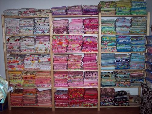 June 2007...Fabrics Organized